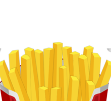 Exercise? No. Extra Fries Sticker