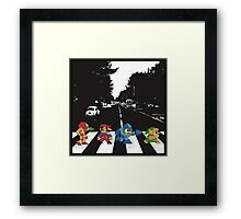 Nintendo Sprites on Abbey Road Framed Print