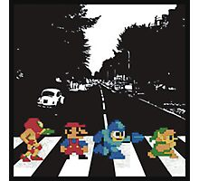 Nintendo Sprites on Abbey Road Photographic Print