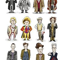 The 12 Doctors by DocHackenbush