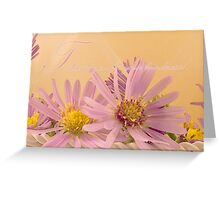Wild Asters - Thank You For Your Kindness Card Greeting Card