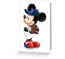 The Red Sox & Mickey Greeting Card