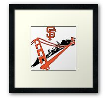 San Francisco Giants Stencil Framed Print