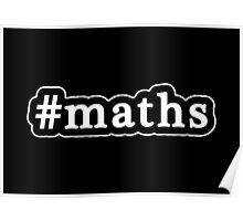 Maths - Hashtag - Black & White Poster
