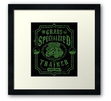 Grass Specialized Trainer Framed Print