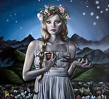 Virgo Girl with Flower Crown by plantiebee
