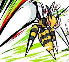 Mega Beedrill | Twineedle by ishmam