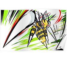 Mega Beedrill | Twineedle Poster