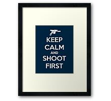 KEEP CALM - Han Shot First Framed Print