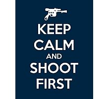 KEEP CALM - Han Shot First Photographic Print