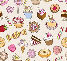 Seamless pattern with sweets by smotrivnebo