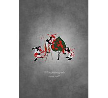 Alice in Wonderland inspired design (Playing Cards). Photographic Print