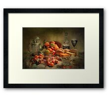 Lunch !  ( still life ) Framed Print