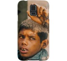 Intellectually disabled boy and his monkey, India Samsung Galaxy Case/Skin
