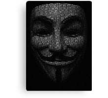 Anonymous V Canvas Print