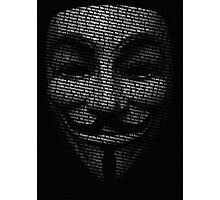 Anonymous V Photographic Print