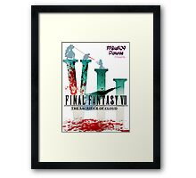 Final Fantasy VII: The Sacrifice Of Cloud - Numbers and Characters With Blood Framed Print