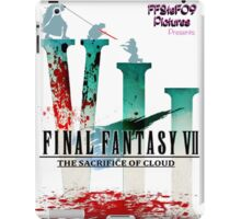 Final Fantasy VII: The Sacrifice Of Cloud - Numbers and Characters With Blood iPad Case/Skin