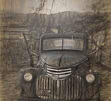 Pencil drawing of vintage Chevy by randymir