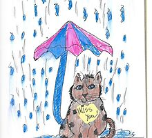 Rainy day kitty! by Judy Niemi
