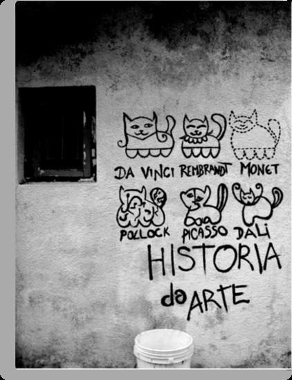 Cats Artists - Da Vinci, Rembrandt, Monet, Pollock, Picasso, Dalì - Historia Da Arte  by Selfcontrol