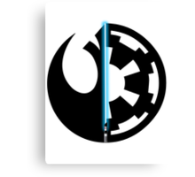 Rebel Alliance vs Galactic Empire - Star Wars Canvas Print
