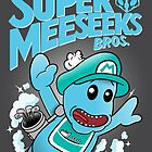 Super Meeseeks Bros. shirt iPhone iPad case pillow by lavalamp