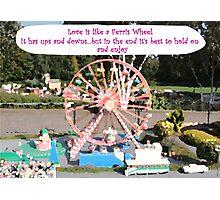 Love is like a Ferris Wheel Photographic Print