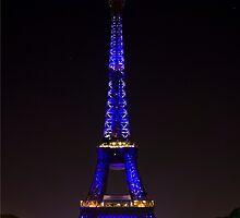 Eiffel Tower Color by BlackIrisStudio