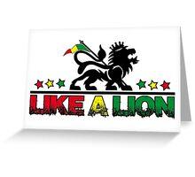 Like a Lion Greeting Card
