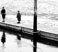 Brothers Fishing by Gilda Axelrod