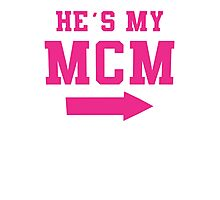 He's My MCM / She's My WCW Best Friends Shirts, Couples Shirts, Matching, BFF, Besties, Selfie Shirts Photographic Print