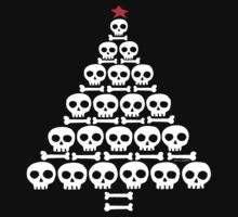 White Skull and Bones Christmas Tree  by ArtVixen