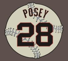 Buster Posey Baseball Design Kids Clothes