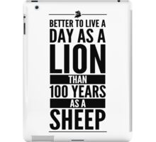 Live The Day Like A Lion - White iPad Case/Skin