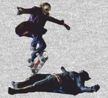The Joker Skating Over The Dark Knight by jamiesonmurphy