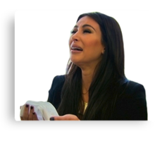 sad kim k Canvas Print