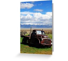 Rusted With a View Greeting Card