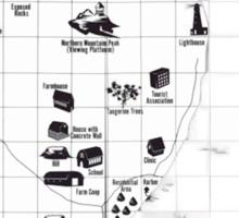 Battle Royale Map Sticker