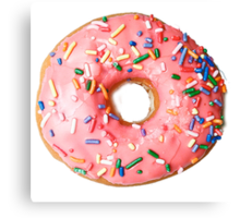 a real donut Canvas Print