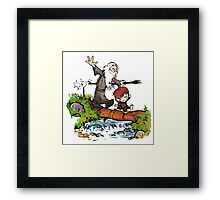 Gandalf and Bilbo Calvin and Hobbes Framed Print