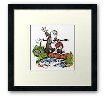 Gandalf and Bilbo Calvin and Hobbes Framed Print