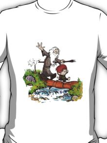 Gandalf and Bilbo Calvin and Hobbes T-Shirt