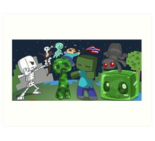 Mine Space Invasion Art Print