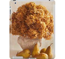 Dried Hydrangeas And Pears Still Life  iPad Case/Skin