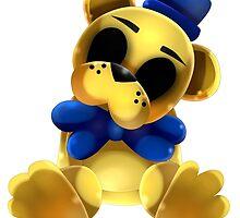 Chibi Golden Freddy Bear by ShinyhunterF