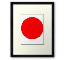 Living Japanese Flag Framed Print