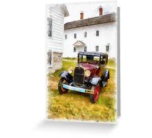 Ford Model A Watercolor Greeting Card