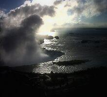 Falls at dawn by Rebecca Tun