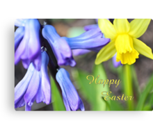 Happy Easter - spring flowers Canvas Print
